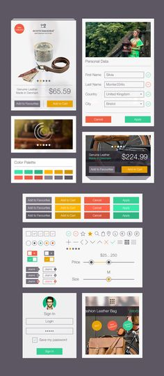 Online Store UI Kit | GraphicBurger