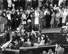 John F. Kennedy Assassination, Two Photographs Taken on November 21 and 1963 Lot of 2 silver gelatin press photographs, each 10 x 8 in., the first a view of John and Jacqueline Kennedy at the cent. Jackie Kennedy, Los Kennedy, Robert Kennedy, American Day, American History, American Presidents, Dealey Plaza, Kennedy Assassination, John Fitzgerald