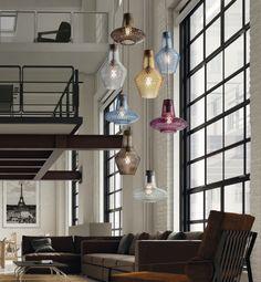 """Illuminazione d'interni: nuovo brand Federico de Majo, lampada a sospensione """"Romeo e Giulietta"""""""