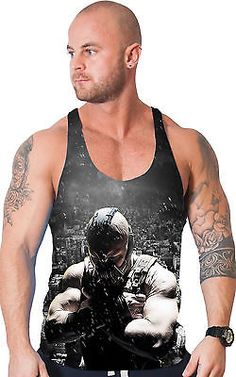 Bodybuilding clothing all over #print #stringer vest gym tank batman bane  #singl,  View more on the LINK: 	http://www.zeppy.io/product/gb/2/201463102390/