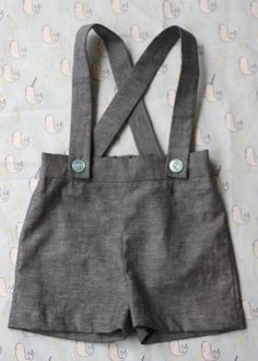 Baby Boy Suspender Shorts Can't wait to have a baby boy so I can put him in these, just too cute