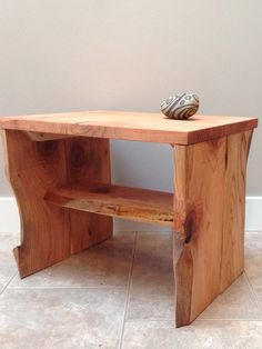 Rustic / Live edge cedar table. From the studio of JulieAnne Hage.