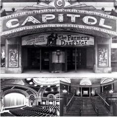 The old Capitol Theatre Movie Theater, Theatre, Old Photos, Vintage Photos, Canadian Forest, Capital Of Canada, Canadian History, Heartstrings, Old City