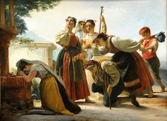Joseph Navez (Belgian, 1787–1869). Pilgrimage In The Roman Campagna, 1848. Museum of Fine Arts, Boston.