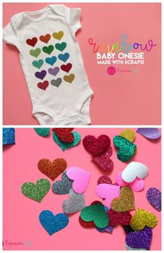 use vinyl scraps to make this fun baby onesie