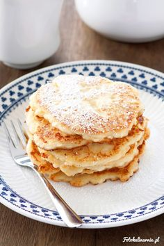 Sweet Cottage Cheese Fritters from Cracow. Polish Recipes, Polish Food, Cottage Cheese, Fritters, Breakfast Recipes, Pancakes, Brunch, Eat, Ethnic Recipes
