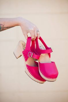 Lotta's Highwood vegan pink clogs Style Crush: Bright Statement Shoes – A Beautiful Mess