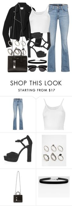 """Style #10195"" by vany-alvarado ❤ liked on Polyvore featuring rag & bone, Wilfred, Lost & Found, Topshop, ASOS and Yves Saint Laurent"