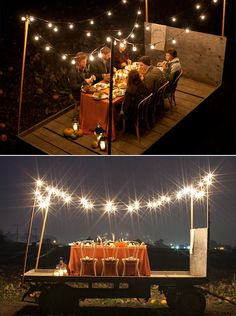 Pop-up dinner party.
