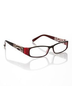 11d818a42bc Take a look at this Red Rhinestone Square Readers by Rocco Originals on   zulily today