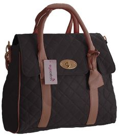 Kimberely Womens Quilted Modern Day Satchel Shoulder Bag Black *** You can find more details by visiting the image link.