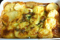 Potato bake with cream and basil!