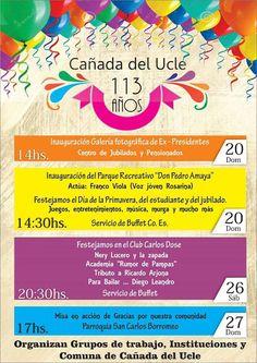 27 Septiembre Cañada de Ucle - 113° Aniversario - Region Litoral