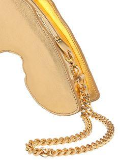 Saint Laurent Handgun Shaped Metallic Leather Bag in Gold   Lyst