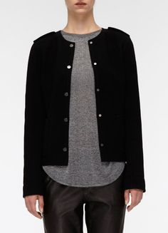 Snap-Front Wool Jacket