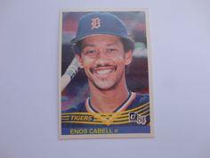 Enos Cabell Donruss 1984 Baseball Card.