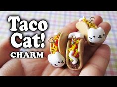 Tutorial: TacoCat polymer clay charm - YouTube Seriously can't wait to start making these! So cute and easy !