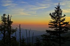 Clingman's Dome, Smoky Mountains, Tennessee / Sunset