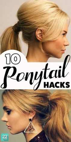 If you've got hair long enough for a ponytail, you probably know there's a lot you can do with it. But don't limit yourself, try some of these ponytail hairstyles that look fancy, while still being quick and easy like the simple standby style. Up Dos For Medium Hair, Easy Hairstyles For Medium Hair, Easy Hairstyles For Long Hair, Medium Hair Styles, Curly Hair Styles, Ponytail Hairstyles Tutorial, Casual Updos For Medium Hair, Long Hair Ponytail Styles, Weekend Hairstyles