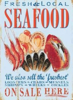 1000 images about seafood on pinterest lobster shack for Plaque metal cuisine