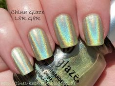 China Glaze L8R G8R used 3X, shows a good bit of evaporation! 16€ ***writing on the bottle nearly all worn away***
