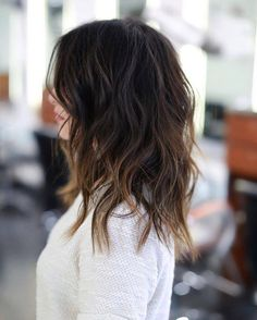 LOVELY MID LENGTH Cut/Style: Anh Co Tran • IG: @Anh Co Tran • Appointment…