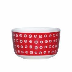 Marimekko Karakola Red Dessert Bowl