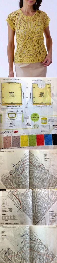 Patrones que hacen punto con diagramas y descripciones: ganchillo túnica de…