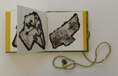 Flowers of the Field by Hester Cox. A coptic stitched accordion book of collagraphs. Part of A Field Guide to Horton-in-Ribblesdale. Accordion Book, Field Guide, Limited Edition Prints, Printmaking, Stitch, Flowers, Books, Design, Art