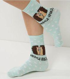 Mint Green Hedge Hugs Print Socks | New Look