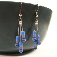 resistors earrings [Etsy: digiBling]