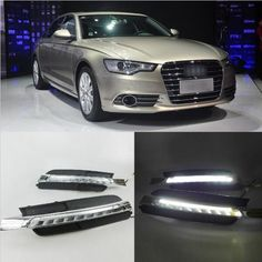 167.19$  Buy here - http://alirzy.worldwells.pw/go.php?t=32787055316 - Hireno Super-bright LED Daytime Running Light for Audi A6 A6L 2013-16 LED Car DRL fog lamp 2PCS