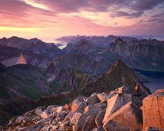 Lofoten Sunset : Lofoten Islands, Norway : Mountain Photography by Jack Brauer