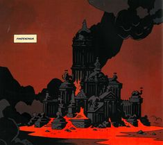 Mike Mignola Art, Sketchbook Inspiration, Environment Design, Comic Artist, Pretty Pictures, New Art, Amazing Art, Graphic Art, Fantasy Art