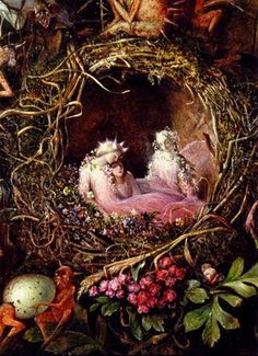 Fairies in a Bird's Nest. John Anster Fitzgerald