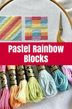 Pastel Rainbow Blocks - Check out my latest cross stitch project - Pastel Rainbow Blocks - a set of patterns based on quilt blocks in pretty soft rainbow colours.
