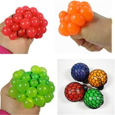 1PC Antistress Face Reliever Grape Ball Tricks Autism Mood Squeeze Relief Healthy Toy Funny Geek Gadget Men Halloween Jokes 5CM