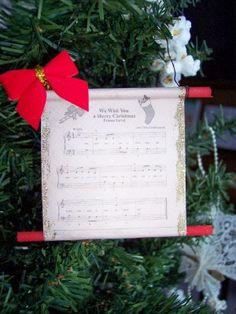 Christmas Carol Scroll Ornament