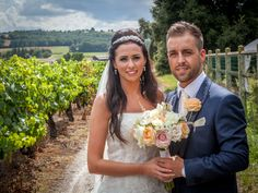 Kim and Danny in the vineyards, such a beautiful photograph! Neil Cooling Photography. #romanticweddings #vineyards #luxuryweddingsfrance #bellevue #rusticweddings #luxury