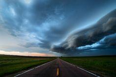 The Crossing - Shelf cloud in western Nebraska. June 2nd, 2015. Photography by  Mike Olbinski