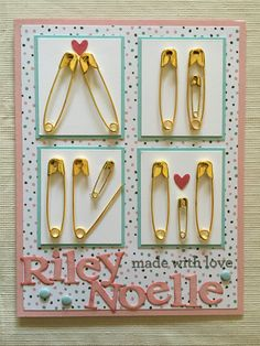 Presents for girls Perfect Gift For Boyfriend, Boyfriend Gifts, Baby Shower Cards, Baby Shower Gifts, Baby Crafts, Diy And Crafts, Cute Gifts, Diy Gifts, Safety Pin Crafts