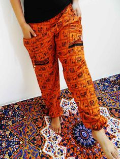 Brown Harem Pant Beach Hippie Elephant Casual Afghani Alladin Wear