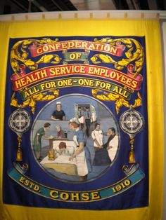 Confederation of Health Employees End Of An Era, World Trade, Human Rights, Badges, Flags, Cross Stitch, Quilts, Embroidery, Female