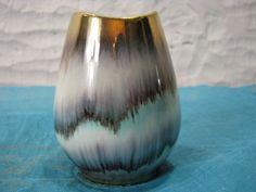 Small Vintage Bay Keramik Vase – Gold Rim & Fish Mouth – No. 555 – 1950s Rockabilly Design – German Pottery WGP – Mid Century Home Decor von everglaze auf Etsy