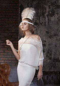 Robe de mariée années 20 Elisabetta Polignano Collezioni 2015 #weddingdress #bridaldress