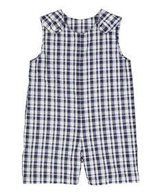 Blue & White Plaid Romper - Infant & Toddler