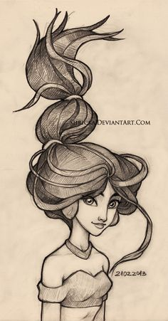 Sketch style (Jasmine) 9 by *Shricka on deviantART