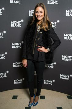 THE OLIVIA PALERMO LOOKBOOK: Olivia Palermo and Johannes Huebl At The Montblanc VIP Dinner in Geneva, Switzerland.
