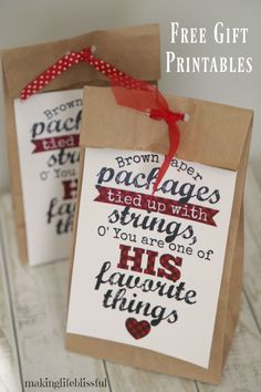 Enjoy these free printable kindness tags and quotes.  Brown Paper Packages and You Are Loved printables for cheering up a friend or giving service to others.  Part of the #LIGHTtheWORLD campaign.