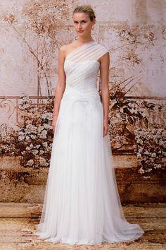 Tendências #Noivas 2014 - Vestidos de uma alsa #MoniqueLhuiller #casarcomgosto #tule